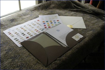 My handy new Design Folder shown on a rare Anichini hand-loomed throw. A gift from artist Hunt Slonem. Serendipity abounds!