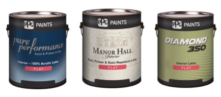 "New Labels: Manor Hall is available in  both interior and exterior products. Diamond 350 is the exact same top of the line product we have been selling for 15 years (formerly called ""Dulux Ultra""). All new pigments are VOC-free!"